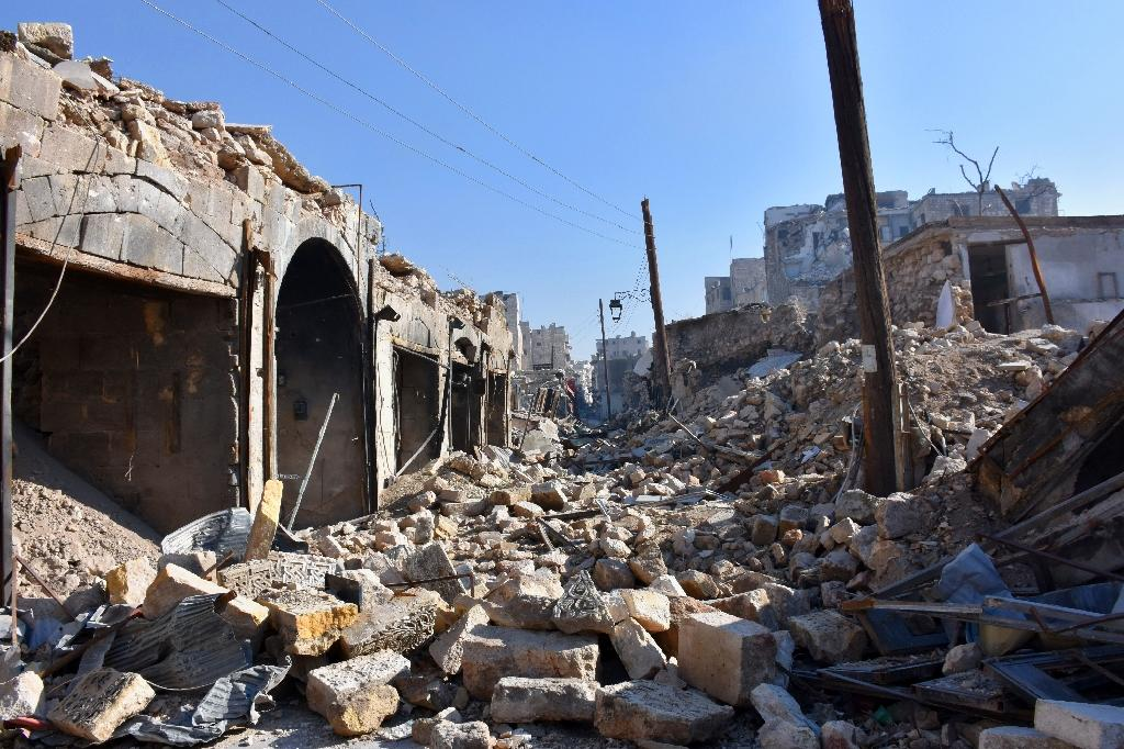 Syria army pounds Aleppo rebels as US, Russia to meet