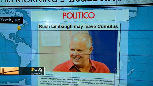 Headlines: Rush Limbaugh may end contract with Cumulus Media