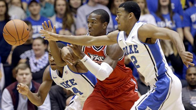 Hood, No. 4 Duke bounce back, top Florida Atlantic