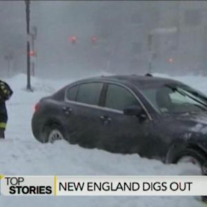 New England Digs Out from Blizzard