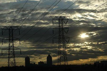 File photo of electricity pylons in Johannesburg's Alexandra township