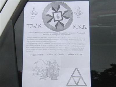 KKK Makes Unexpected Visit In NKY