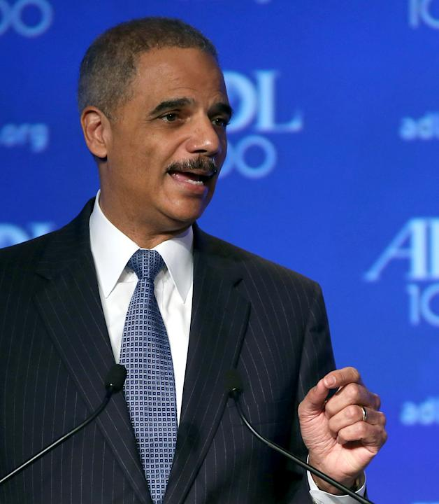 Attorney General Eric Holder Speaks At The Anti-Defamation League 2013 Summit