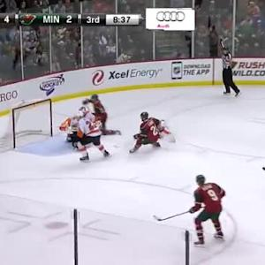 Ray Emery Save on Jason Zucker (11:24/3rd)