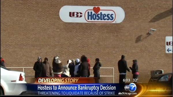 Hostess strike leads to company liquidation