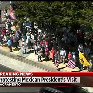 Protesters Near State Capitol Demanding Release Of U.S. Marine Imprisoned In Mexico
