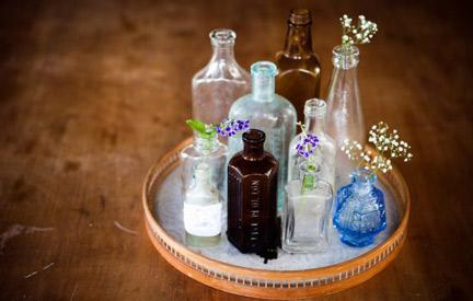 Create a Centerpiece from Old Bottles
