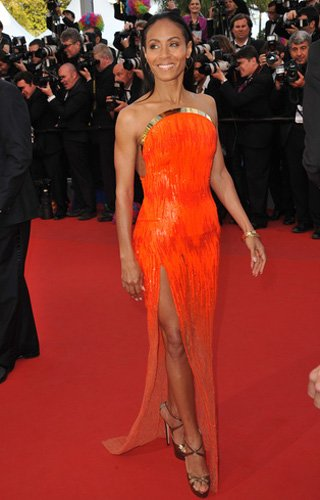 Who: Jada Pinkett-Smith What: Atelier Versace gown Where: Madagascar 3 premiere Why We Love It: Jada Pinkett-Smith came to Cannes with her style guns blazing. Her looks included a retro-futurist Paco