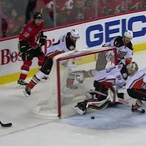 Andersen comes up with kick save and a beauty