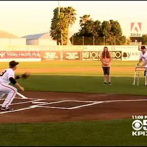 Bryan Stow Throws Out First Pitch At San Jose Giants Game