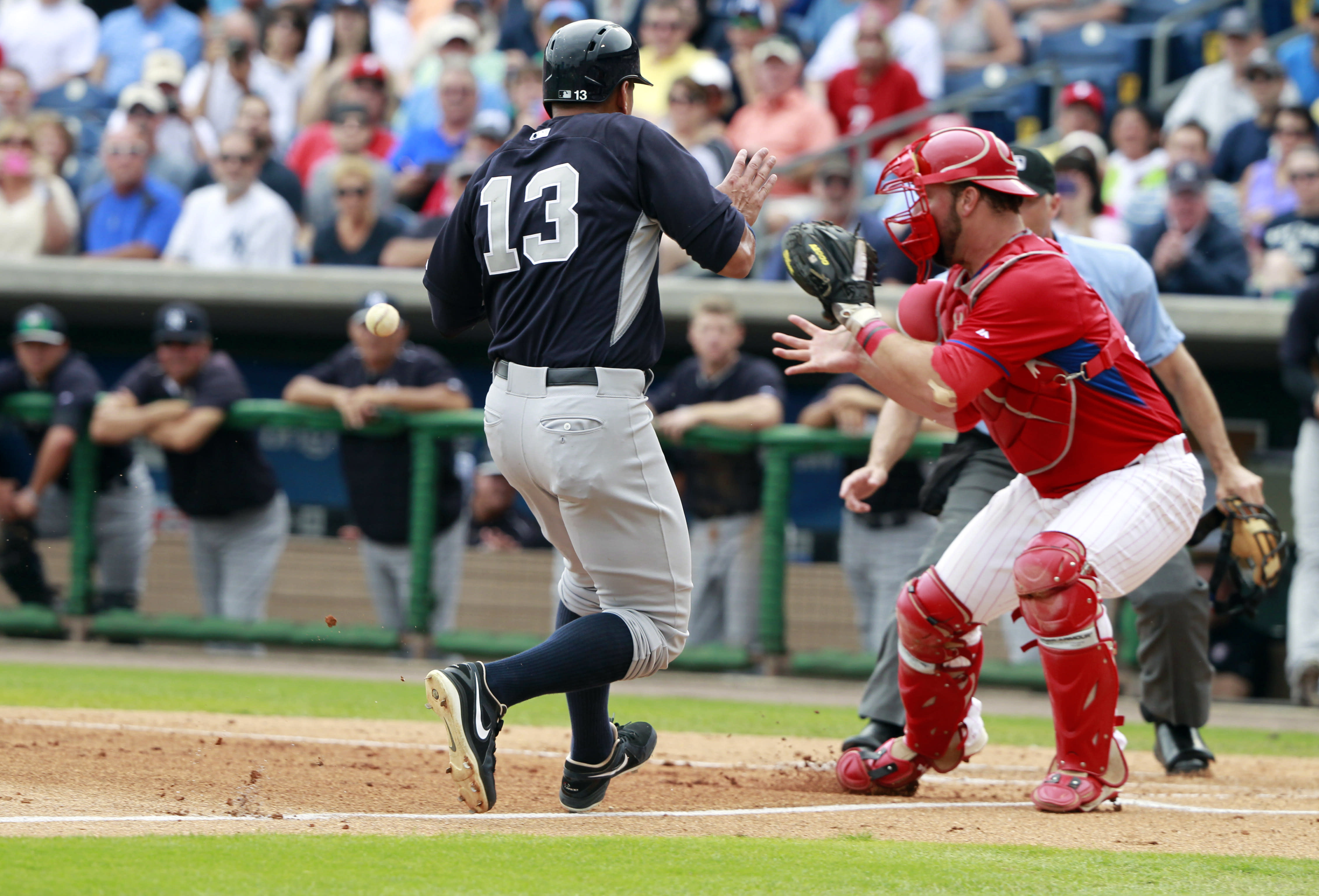 A-Rod challenges Jeff Francoeur's arm, loses by notable margin