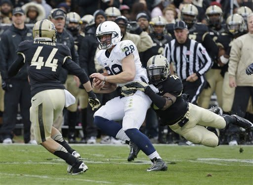 Penn State rolls to 34-9 victory over Purdue