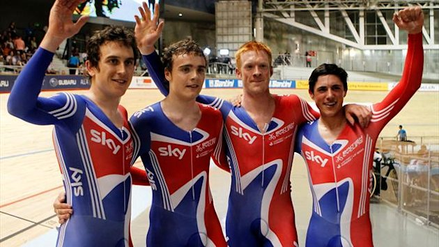 2012 World Track Cycling Championship GB team pursuit Geraint Thomas, Steven Burke, Edward Clancy and Peter Kennaugh