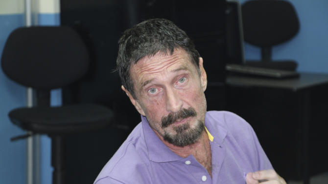 McAfee denied asylum; expected in Belize