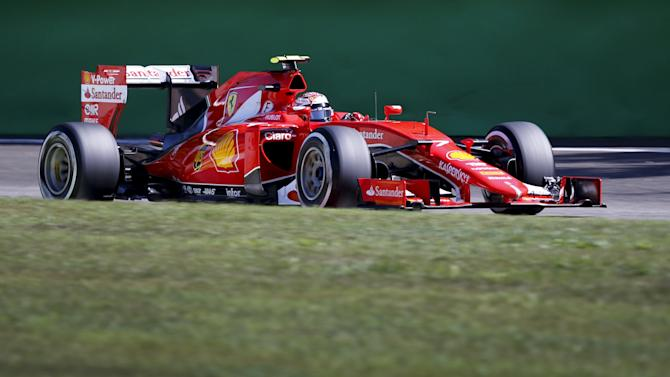 Ferrari Formula One driver Raikkonen of Finland drives his car during the third free practice session for the Italian F1 Grand Prix in Monza