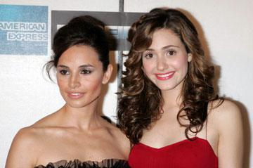 Mia Maestro and Emmy Rossum at the Tribeca Film Festival premiere of Warner Bros. Pictures' Poseidon New York, NY