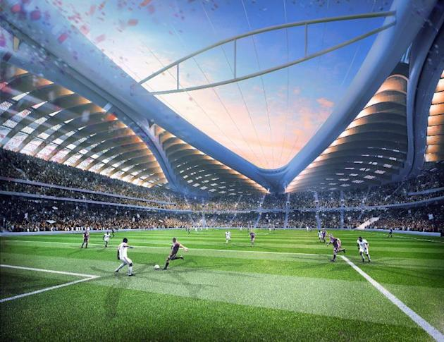 A computer-generated image released by the Organising Committee of Qatar 2022 shows the stadium to be built in al-Wakrah for the Qatar's 2022 World Cup