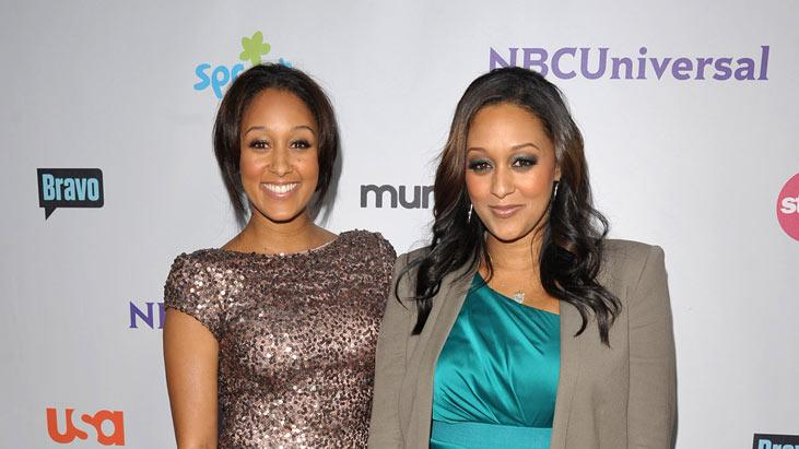 "Tia Mowry of ""The Game"" and Tamera Mowry attend the NBC Universal Summer TCA 2011 All-Star Party at the SLS Hotel on August 1, 2011 in Los Angeles, California."