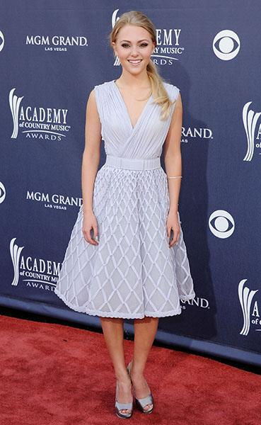 On the red carpet of the 46th Annual Academy of Country Music, 2011