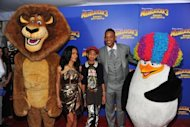 "(L-R) Jada Pinkett Smith, Willow Camille Reign and Will Smith attend the ""Madagascar 3: Europe's Most Wanted"" New York Premier on June 7, 2012 in New York City. Alex the lion and his wild friends retained their crown as king of the American box office this weekend, industry figures showed Sunday"