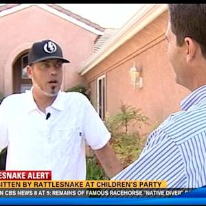 Man bitten by rattlesnake at children's party