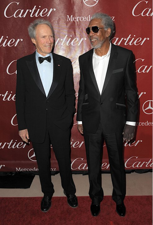 21st Annual Palm Springs Film Festival Gala 2010 Clint Eastwood Morgan Freeman