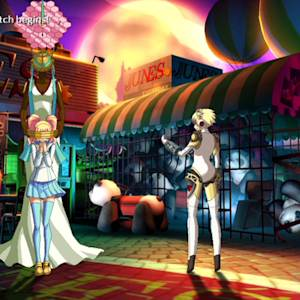 Rise takes on Shadow Aigis in Persona 4 Arena Ultimax