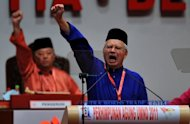 Malaysian Prime Minister Najib Razak (right) at the ruling party&#39;s annual general assembly in Kuala Lumpur in 2011. Activists have vowed to continue calls for electoral reform in Malaysia, with the protests coming at a precarious time for Razak&#39;s government as he is expected to call elections soon