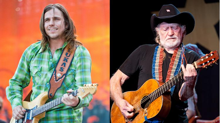 Lukas Nelson and Willie Nelson