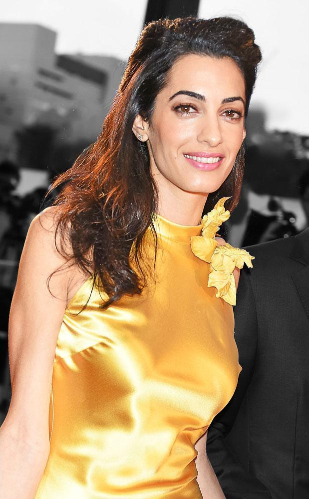 """Amal Clooney Steals the Spotlight in a Yellow Silk Dress at """"Tomorrowland"""" Tokyo Premiere"""