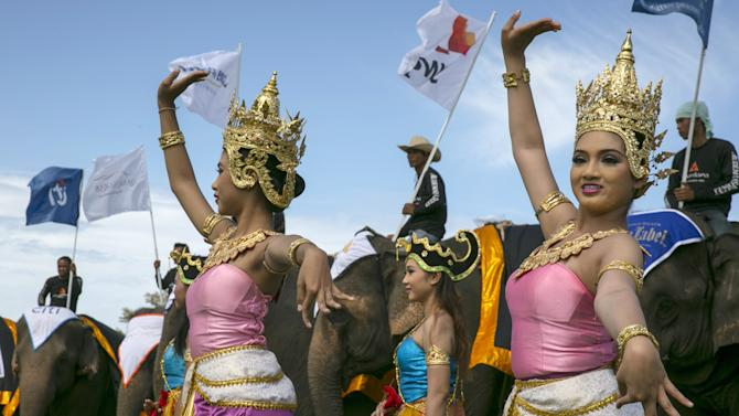 Thailand Hosts King's Cup Elephant Polo Tournament