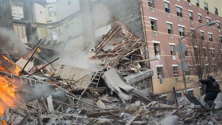 Gas blast destroys 2 NY buildings; 5 people dead