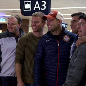 Bobsledder Nick Cunningham Returns Home from Sochi