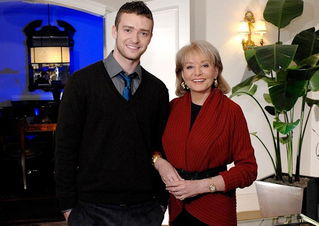 Justin Timberlake and Barbara Walters on Barbara Walters Presents:  The 10 Most Fascinating People of 2007.