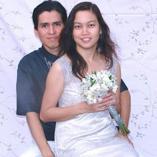A personal snapshot of Ruben P. Salazar with his wife, Rachel P. Salazar.