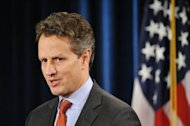 US Treasury Secretary Timothy Geithner, seen here in February 2012, urged China to allow its currency to strengthen further and push forward economic reforms, which he said were crucial to the global recovery