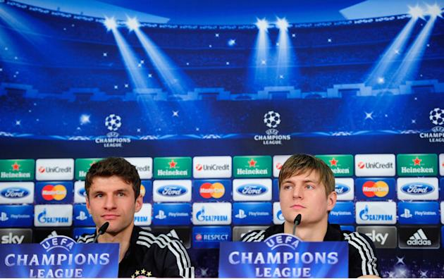 Bayern Muenchen Training and Press Conference