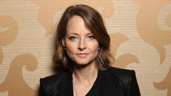FILE - This July 13, 2012 file photo shows actress Jodie Foster during Comic-Con in San Diego. The Hollywood Foreign Press Association announced Thursday, Nov. 1, that Foster will receive the group's Cecil B. DeMille Award at the 70th annual Globes ceremony on Jan. 13. (Photo by Matt Sayles/Invision/AP, file)