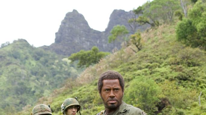 Brandon T. Jackson Jay Baruchel Robert Downey Jr. Tropic Thunder Production Stills DreamWorks 2008
