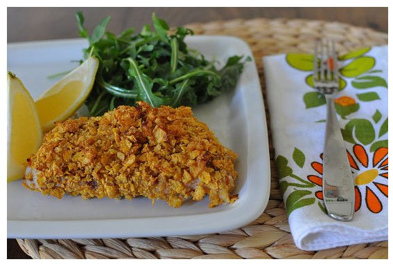 Healthy Cornflake-Crusted Snapper