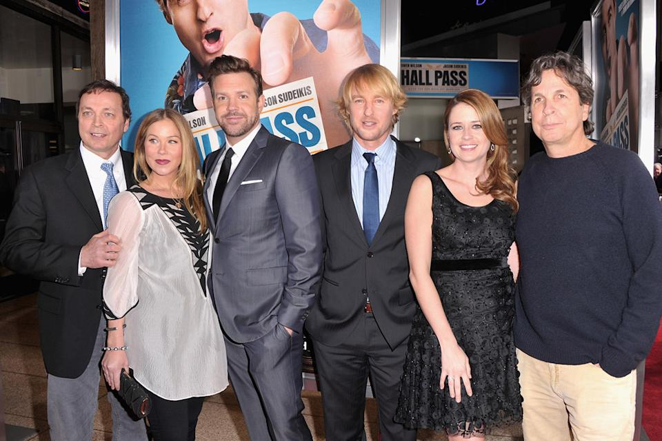 Hall Pass LA Premiere 2011 Bobby Farrelly Christina Applegate Jason Sudeikis Owen Wilson Jenna Fischer Peter Farrelly