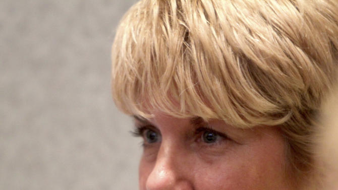 Cindy Anthony listens as the jury reads the not guilty verdict in the murder trial of her daughter, Casey, at the Orange County Courthouse in Orlando, Fla., Tuesday, July 5, 2011. Casey Anthony had been charged with killing her daughter, Caylee. (AP Photo/Red Huber, Pool)