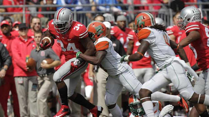 After routing 4 foes, Buckeyes face 1st close game