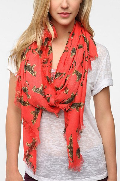 Cooperative conversational print scarf, $24 at UrbanOutfitters.com