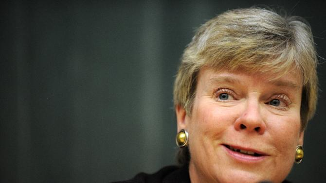 """US Arms Control Under Secretary Rose Gottemoeller (pictured) told the NPT conference that provisions on holding the conference were """"incompatible with our long-standing policies"""""""
