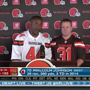 Cleveland Browns pick tight end Malcolm Johnson No. 195 in 2015 NFL Draft