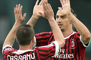 Siena 1-4 AC Milan: Cassano, Nocerino and Ibrahimovic double keep the Rossoneri in Scudetto chase