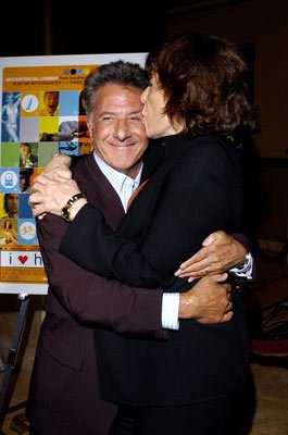 Dustin Hoffman and Lily Tomlin at the Hollywood premiere of Fox Searchlight's I Heart Huckabees