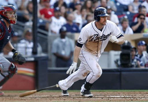 New owners watch Headley, Padres beat Braves 8-2