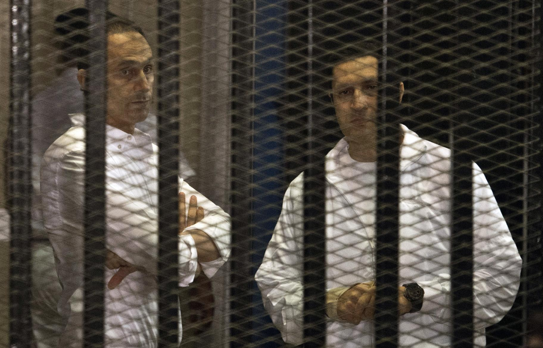 Mubarak sons out of jail pending retrial: minister